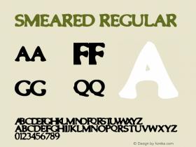 Smeared Regular Unknown Font Sample