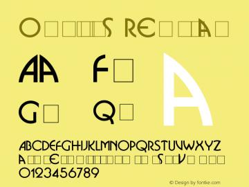 Omnibus Regular Version 1.0 Font Sample