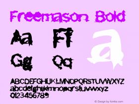 Freemason Bold Version 2.00 Font Sample