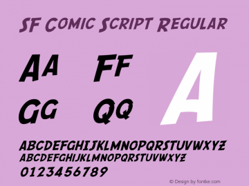 SF Comic Script Regular ver 1.0; 2000. Freeware. Font Sample