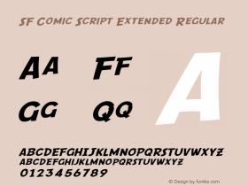 SF Comic Script Extended Regular ver 1.0; 2000. Freeware. Font Sample