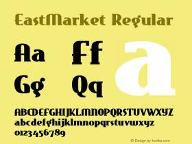 EastMarket Regular Converted from e:\nickfo~1\EAM_____.TF1 by ALLTYPE Font Sample