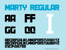 Marty Regular Unknown Font Sample
