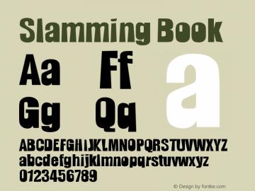 Slamming Book Version 1998; 1.0, initial r Font Sample