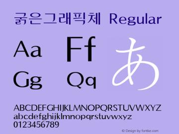 굵은그래픽체 Regular Version 1.00 Font Sample