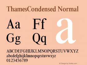ThamesCondensed Normal Version 001.000 Font Sample