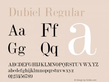 Dubiel Regular 001.001 Font Sample