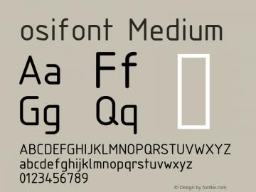 osifont Medium Version 0.1 Font Sample