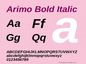 Arimo Bold Italic Version 1.10 Font Sample