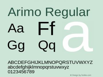 Arimo Regular Version 1.21 Font Sample