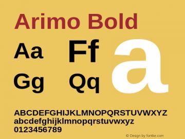 Arimo Bold Version 1.23 Font Sample