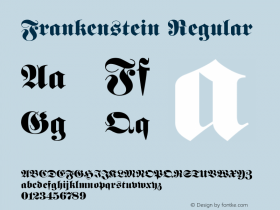 Frankenstein Regular v1.0c Font Sample