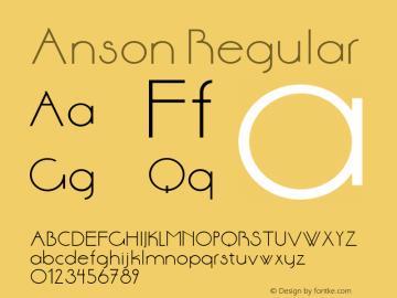 Anson Regular Unknown Font Sample