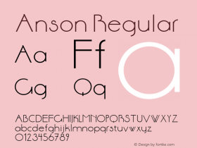 Anson Regular Version 1.0 Font Sample