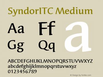 SyndorITC Medium Version 005.000 Font Sample
