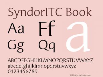 SyndorITC Book Version 005.000 Font Sample