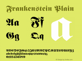 Frankenstein Plain 001.003 Font Sample