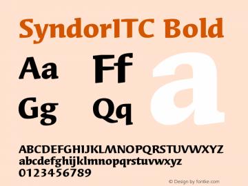 SyndorITC Bold Version 005.000 Font Sample