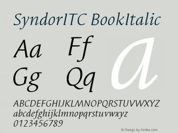 SyndorITC BookItalic Version 001.000 Font Sample