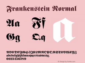 Frankenstein Normal 1.0 Wed Nov 18 01:24:30 1992 Font Sample