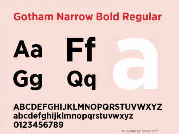 download font gotham narrow bold