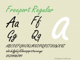 Freeport Regular v1.0c Font Sample