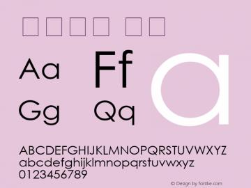 汉语拼音 常规 0.30 版 (2009年1月5日) Font Sample