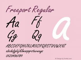 Freeport Regular Altsys Fontographer 4.0.2 97.5.24 Font Sample