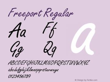 Freeport Regular 001.003 Font Sample