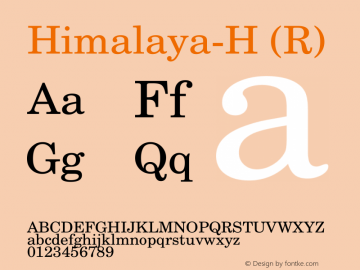 Himalaya-H (R) Version 1.00 January 25, 2009, initial release图片样张