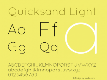 Quicksand Light 001.000 Font Sample