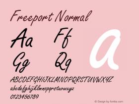 Freeport Normal 1.0 Wed Nov 18 01:22:05 1992 Font Sample