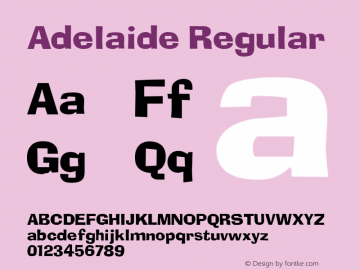 Adelaide Regular v1.0c Font Sample
