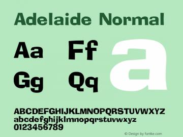 Adelaide Normal 1.0 Sun Dec 06 15:46:38 1992 Font Sample