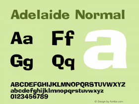Adelaide Normal 1.0 Sun Dec 06 15:46:38 1992 Font Sample