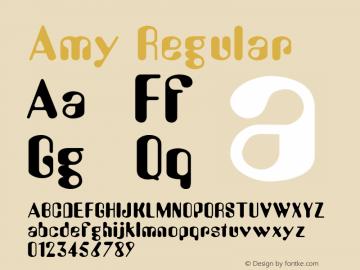 Amy Regular v1.0c Font Sample