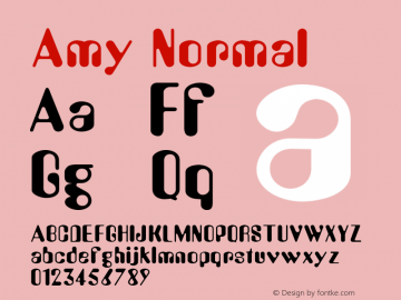 Amy Normal 001.003 Font Sample