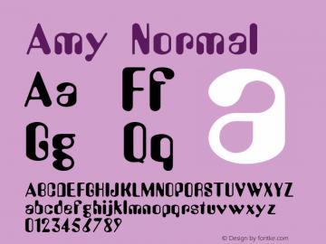 Amy Normal 1.0 Sun Dec 06 15:55:19 1992 Font Sample