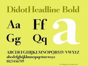 DidotHeadline Bold 1.0 January 2009;com.myfonts.easy.canadatype.didot-headline.bold.wfkit2.version.3cJ3 Font Sample