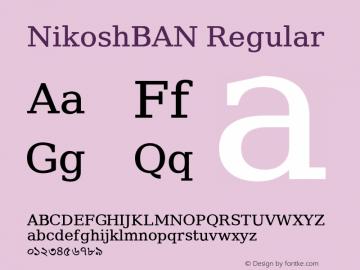 NikoshBAN Regular Version 001.000图片样张