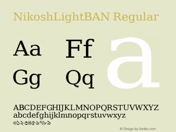 NikoshLightBAN Regular Version 001.000图片样张