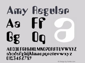 Amy Regular 001.003 Font Sample