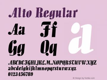 Alto Regular v1.0c Font Sample
