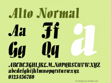 Alto Normal 1.0 Tue Nov 17 21:06:54 1992 Font Sample