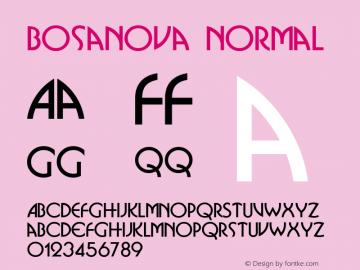 Bosanova Normal 1.0 Sat Dec 05 15:33:22 1992 Font Sample