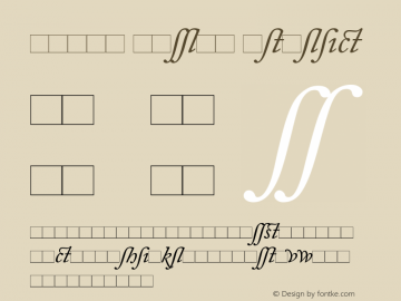 Adobe Caslon Italic Version 1.00 Font Sample