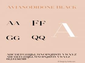 AvianoDidone Black Version 1.000 Font Sample
