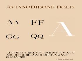 AvianoDidone Bold Version 1.000 Font Sample