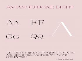 AvianoDidone Light Version 1.000 Font Sample