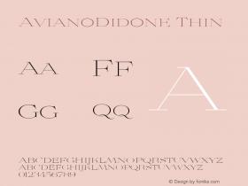 AvianoDidone Thin Version 1.000 Font Sample